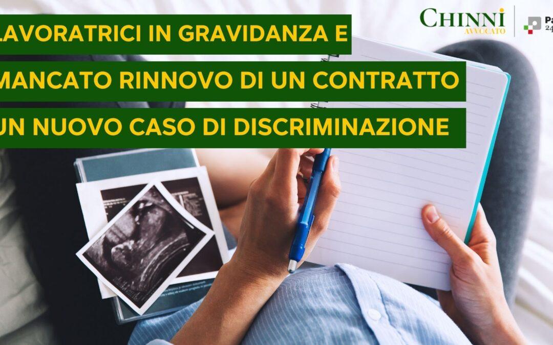 mancato rinnovo contratto tempo determinato lavoratrici in gravidanza avvocato chinni bologna